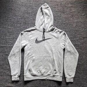 Grey Embroidered Nike Hoodie